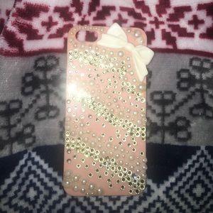 sparkly white bow case